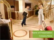 Visitors at Hotel Reception PowerPoint Templates