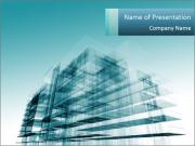 3D Glass Building Шаблоны презентаций PowerPoint