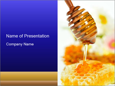 honey for dessert plantillas de presentaciones powerpoint