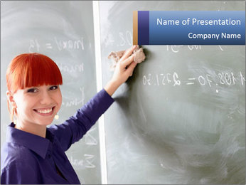Young School Teacher PowerPoint Template