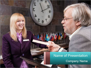 Hotel Check-In Procedure PowerPoint Template