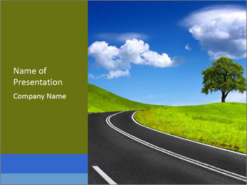 Newly Made Road PowerPoint Template