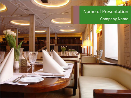 Restaurant interior design powerpoint template backgrounds id restaurant interior design powerpoint templates toneelgroepblik Image collections