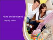 Couple with Shopping Purchases PowerPoint Templates