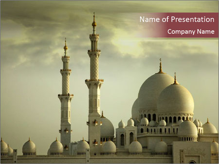 Grand muslim mosque in abu dhbai powerpoint template backgrounds grand muslim mosque in abu dhbai powerpoint template toneelgroepblik Images