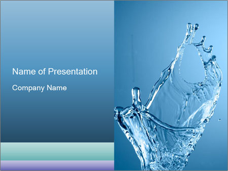 dynamic water flow powerpoint template backgrounds google slides