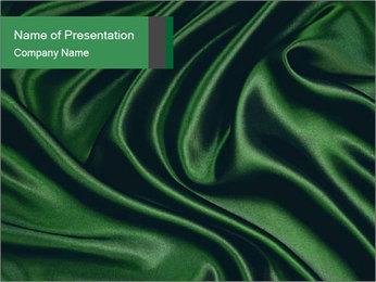 Green Silk Fabric Modèles des présentations  PowerPoint