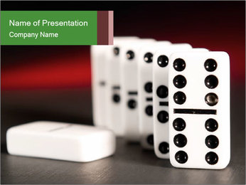 Spend Time Playing Dominoes PowerPoint Template