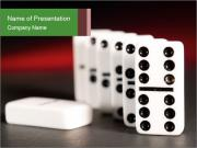 Spend Time Playing Dominoes PowerPoint Templates