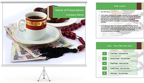 arabian coffee and beeds powerpoint template amp backgrounds