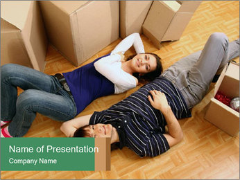Couple Moving PowerPoint Template