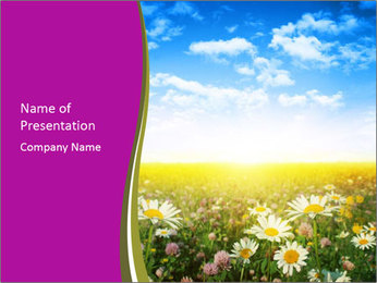 Spring Meadow PowerPoint Template