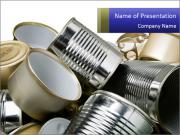 Used Cans PowerPoint Templates
