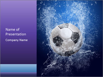 Football Falling into Water PowerPoint Template