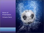 Football Falling into Water PowerPoint Templates
