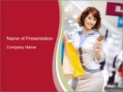 Young Wife Shopping PowerPoint Templates