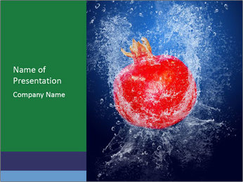 Fruit Falling into Water PowerPoint Template