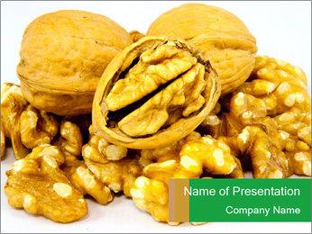 Organic Walnuts PowerPoint Template