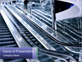 Moving Escalator PowerPoint Template