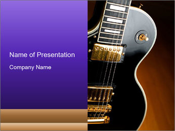 Black Guitar PowerPoint Template