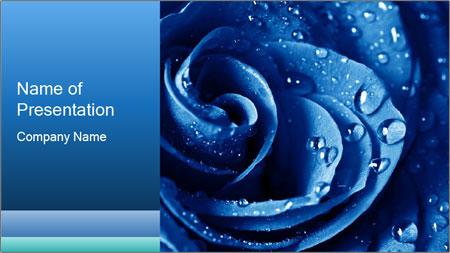 Fresh Blue Flower Powerpoint Template Backgrounds Google Slides