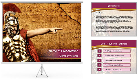 Brave Gladiator PowerPoint Template Backgrounds ID 0000022011 – Powerpoint Flyer Template