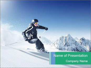 Perfect Downhill for Skiing PowerPoint Template