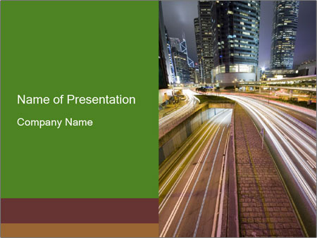 Highrising Buildings In Hong Kong Powerpoint Template Backgrounds
