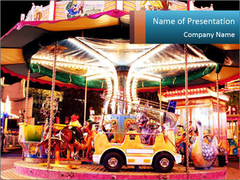 Kids in Amusement Park PowerPoint Template