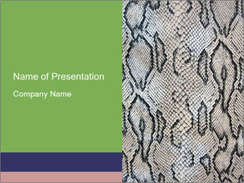 Reptile Skin PowerPoint Template