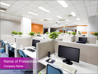 Office Workstation PowerPoint Template