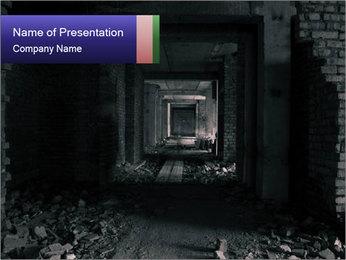 Destroyed Corridor PowerPoint Template