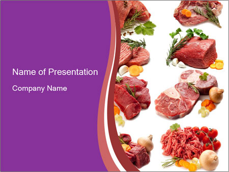 Raw meat collage powerpoint template backgrounds id 0000022199 raw meat collage powerpoint template toneelgroepblik Choice Image