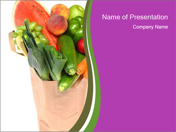 Organic Vegetable Market PowerPoint Template