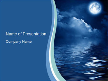 Pleasant Moon Light PowerPoint Template