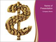Dollar Sign Made of Coins PowerPoint Templates