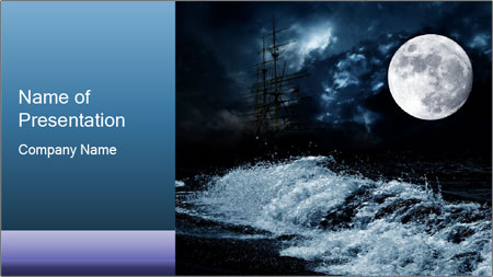 scary full moon powerpoint template backgrounds google slides