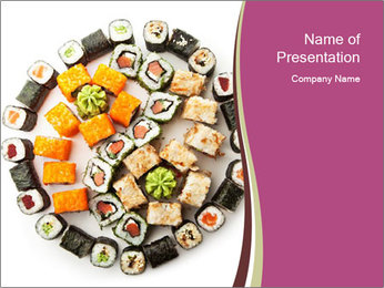 Set of Maki Sushi PowerPoint Template