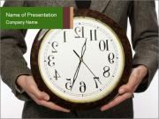 Man Holding Clock PowerPoint Templates