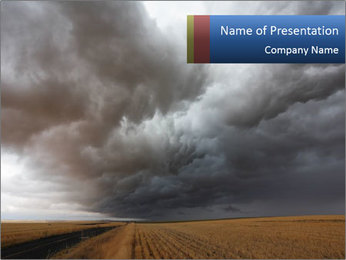 Terrifying Stormy Sky PowerPoint Template