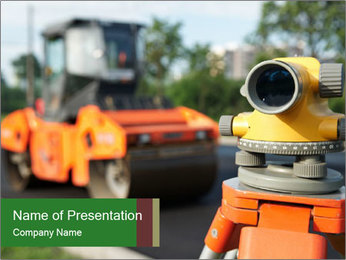 Road Reconstraction PowerPoint Template