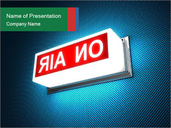 On Air Notification PowerPoint Template