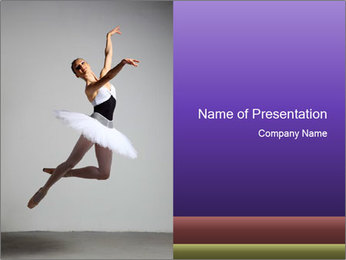 Moving Ballet Dancer PowerPoint Template