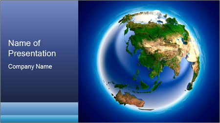 3d planet earth powerpoint template backgrounds google slides