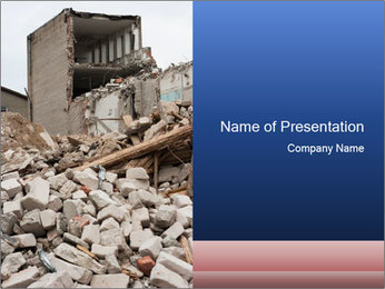 Destroyed City PowerPoint Template