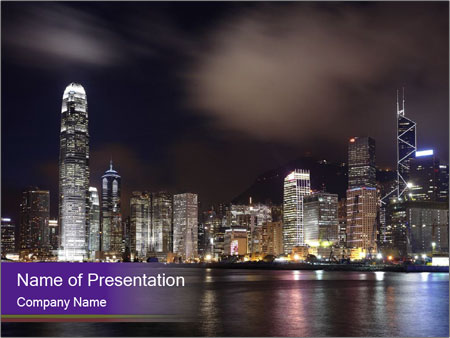Trip To Hong Kong Powerpoint Template Backgrounds Google Slides