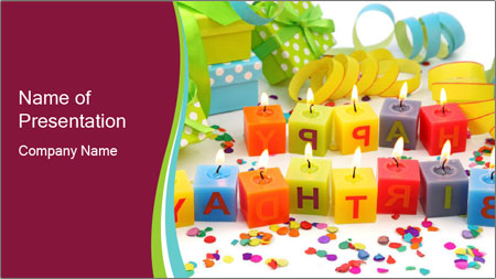 Happy Birthday Candles PowerPoint Template