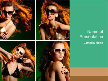 Fashion Model Collage PowerPoint Template