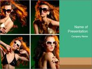 Fashion Model Collage PowerPoint Templates