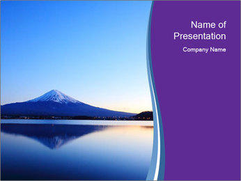 Mountain's Reflection on Water PowerPoint Template